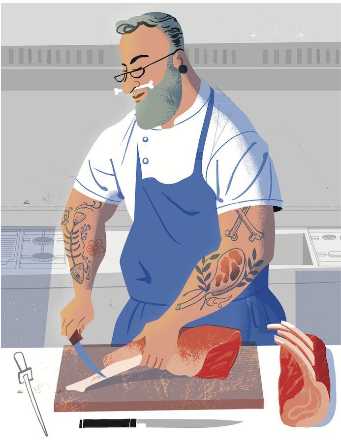 #illustration#studiogarcia#food#chef#meat