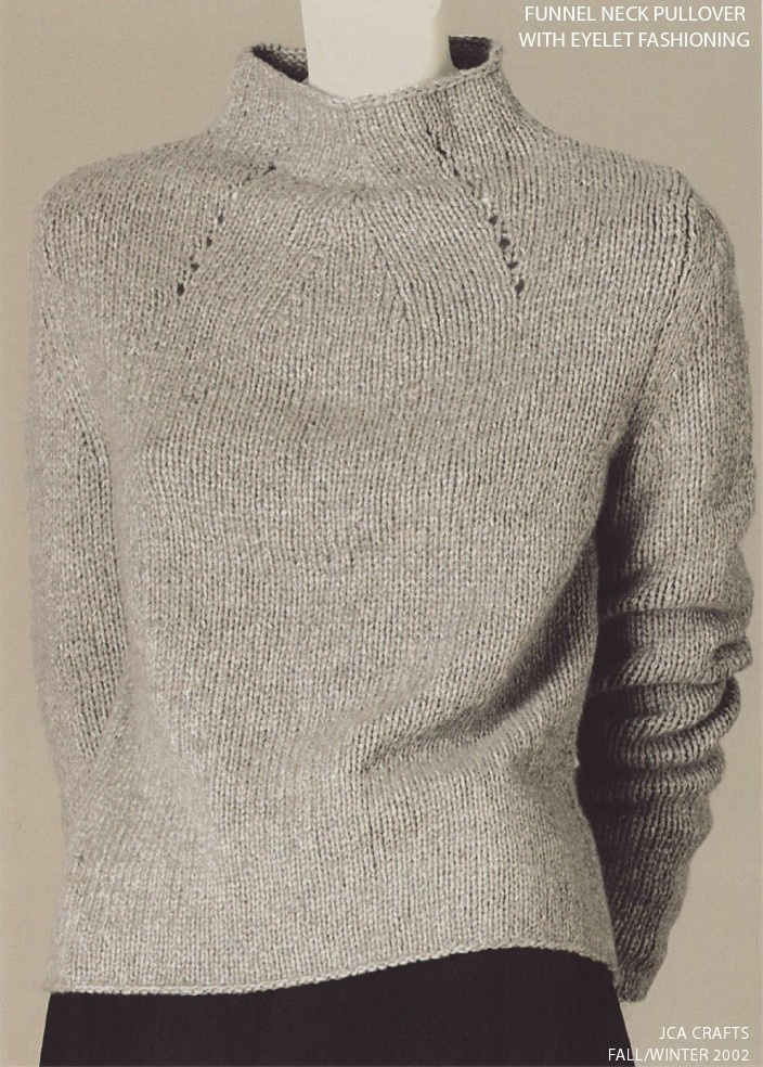 [consider sleeveless] -- Full-fashioned pullover--DK cashmere or alpaca. Waist shaping belies its austerity.