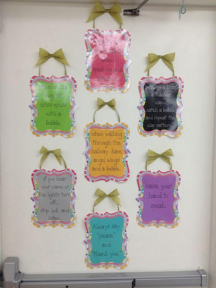 Classroom Rules Decor ~ Best ideas about kindergarten classroom rules on