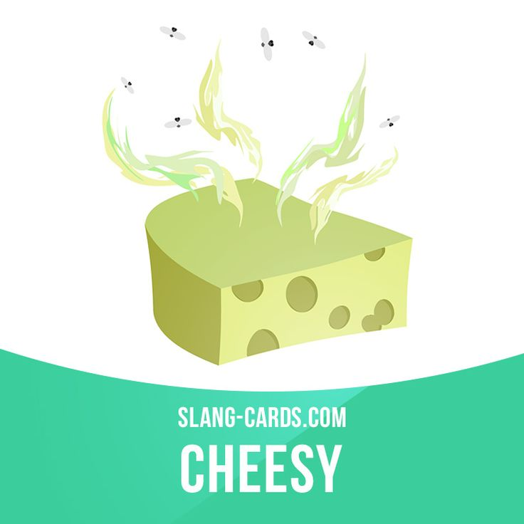 """""""Cheesy"""" means something cheap-looking and in poor taste. Example: I can't believe Carol bought that couch just because it was on sale. It looks so cheesy. Get our apps for learning English: learzing.com"""