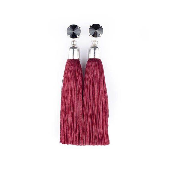 Tassel Earrings. Silk Tassels. Stud Earrings. Stainless Steel by casseljewelry #fashion #handmadejewelry #handmade #jewelry #unique #design #casseljewelry #fashionjewelry #jewelrydesign #etsy #ShopEtsy #EtsyFinds #EtsyForAll