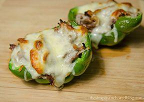 Philly Cheese Steak Stuffed Peppers, 22 minute hard corps, 21 day fix approved!