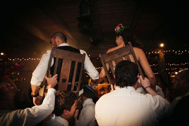 Jewish wedding tradition, chair lifting