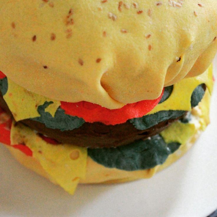 Бургер торт-это то, что нужно для детей и взрослый. Big burger cake=))