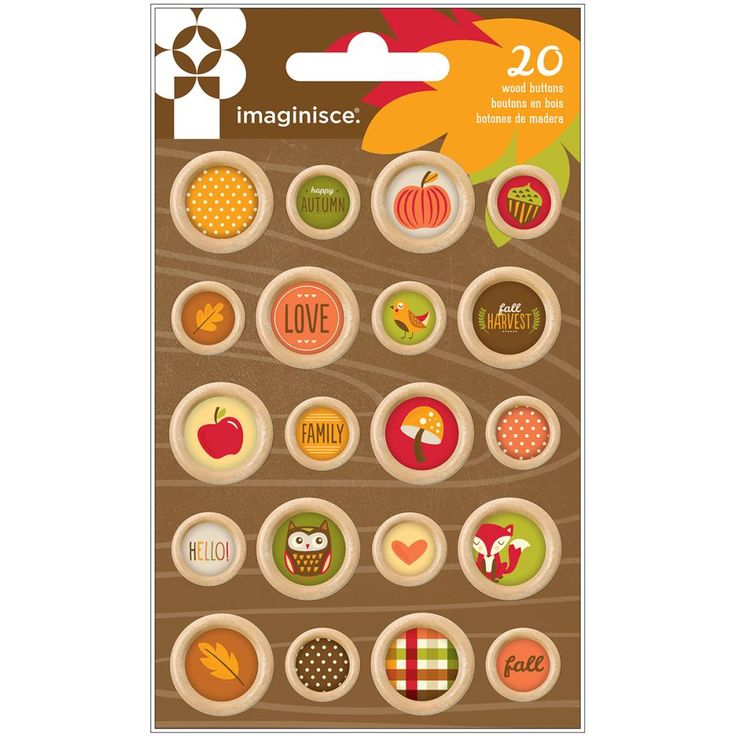 Imaginisce - Give Thanks Wooden Buttons: