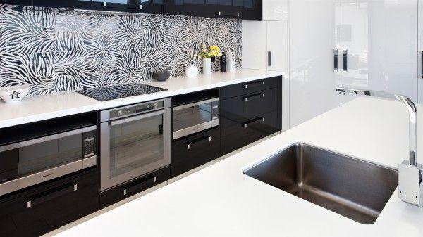 Bold two tone kitchen