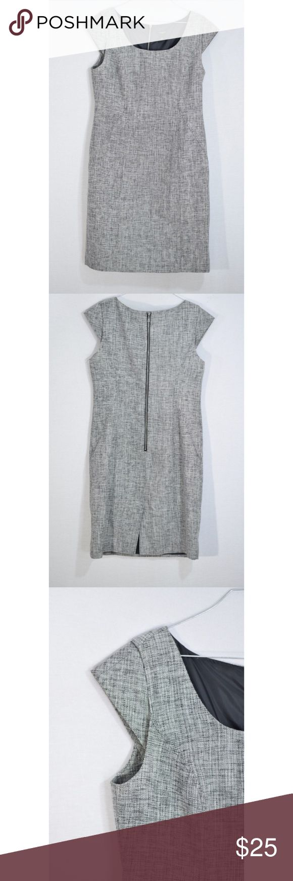"""Ann Taylor Black and White Cocktail Dress Great condition no flaws 38""""L 19"""" pit to pit fully lined Ann Taylor Dresses Midi"""