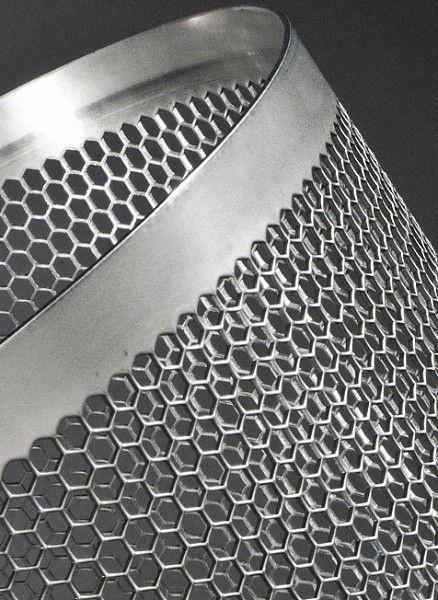 Perforated sheet metal panel (hexagonal holes) HEXAGONAL PERFORATION