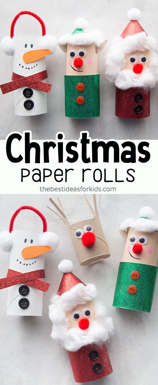 Toilet Paper Roll Christmas Crafts – Bricolage Noël