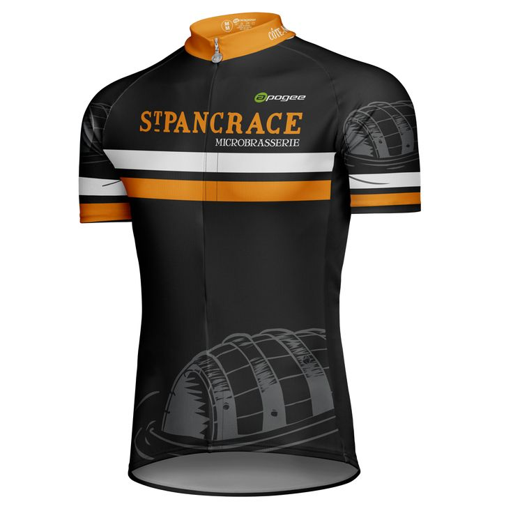 Cycling jersey - Designed and made by Apogee Sports.   Client : Microbrasserie St-Pancrace