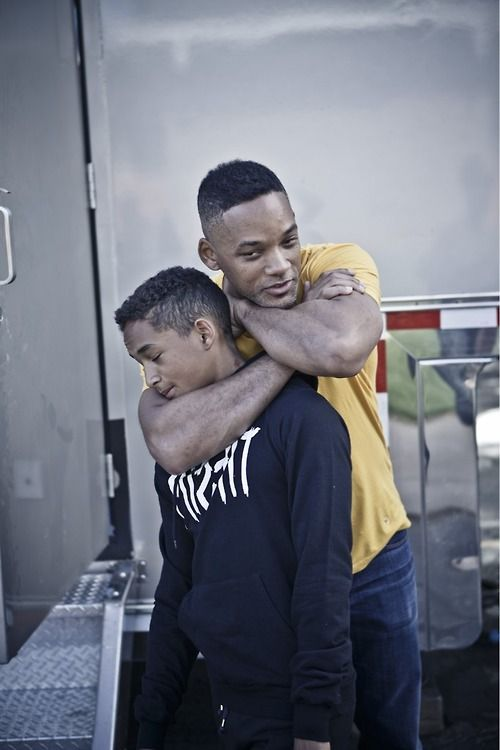 fatherly love...Jaden & Will Smith