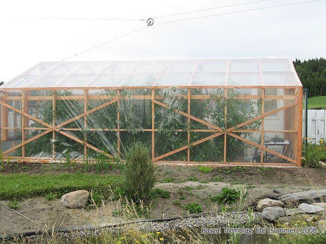Construction d une serre en bois for Construction d une serre de jardin