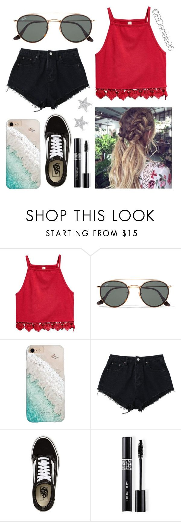 """""""Untitled #323"""" by daniela95140 on Polyvore featuring Ray-Ban, Gray Malin, Salt Water Sandals, Vans, Christian Dior and Diamond Star"""