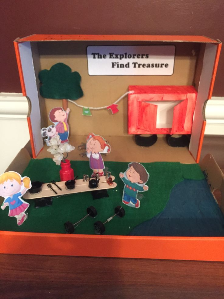 The boxcar children diorama project.