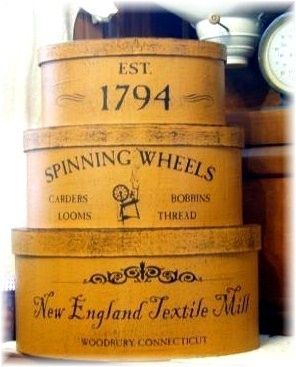 New England Textile Mill primitive shaker style stacking boxes