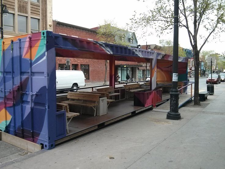 This is a big parklet! This time in Montreal - #popup #placemaking