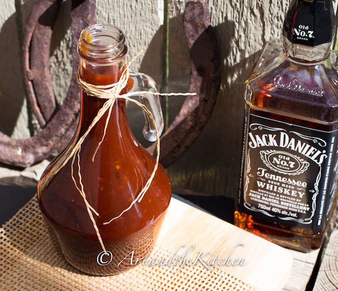 Homemade Jack Daniel's BBQ Sauce Recipe Condiments and Sauces with jack daniels, garlic, onions, ketchup, white vinegar, molasses, brown sugar, tomato paste, worcestershire sauce, liquid smoke, Frank's® RedHot® Original Cayenne Pepper Sauce, freshly ground pepper, kosher salt