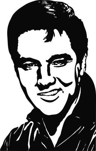 Elvis Presley 3 Die Cut Vinyl Decal Sticker, Hollywood Star Stickers, Musician Decals, Vinyl Decals, Window Stickers, Window Decals, Famous People Decals