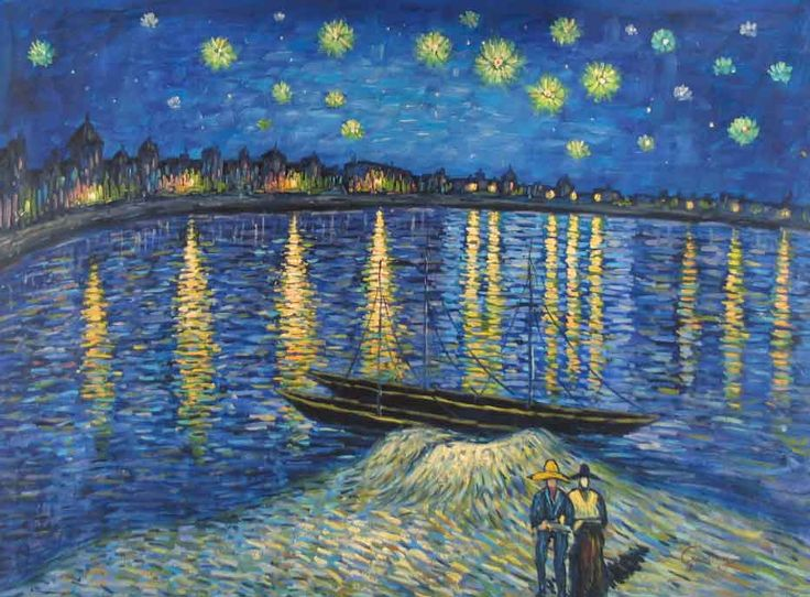 Vincent Van Gogh Starry Night Over the Rhone, 1888