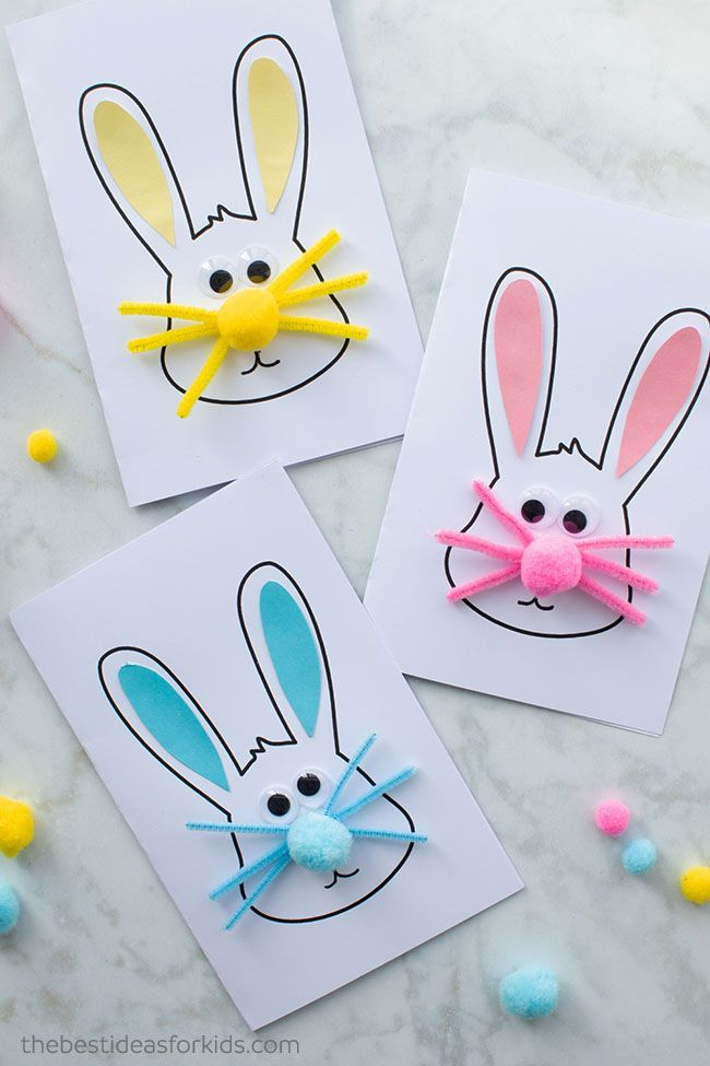 Easter Bunny Card The Best Ideas For Kids Easter Bunny Crafts Bunny Crafts Easter Bunny Cards