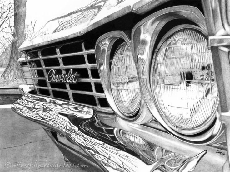 Chevrolet Impala 1967 (Pencil) by wilmsjohn.deviantart.com on @DeviantArt