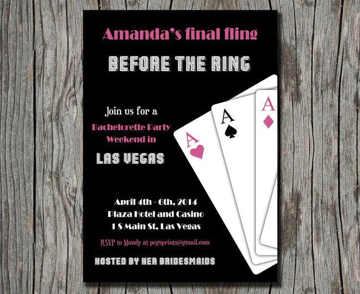 Las Vegas Bachelorette Party Invitation Printable by pegsprints