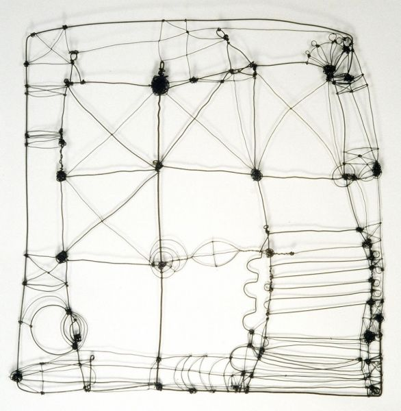 "Barbara Gilhooly - Wire Drawing 1  2006  Annealed steel wire  24"" x 24"""