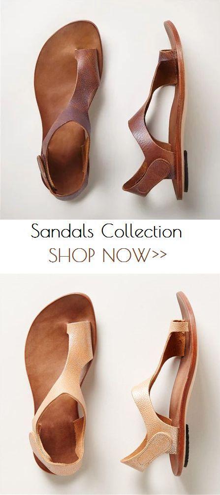 4fab33d26730  28.29 USD Sale! SHOP NOW!Plus Size Sandals Women Magic Tape Flat Heel  Thong Shoes