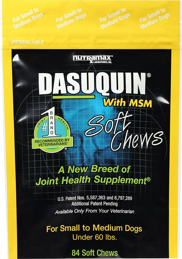Nutramax Dasuquin with MSM Soft Chews Joint Health Small/Medium Dog Supplement…