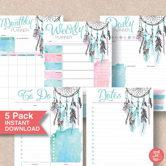 The 25+ best Half page planner printables ideas on Pinterest - free daily planner download