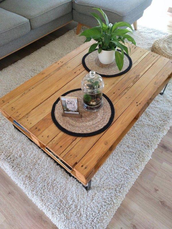 Table Basse Palette Diy Facile A Faire Soi Meme Table Basse Palette Palette Diy Table Basse