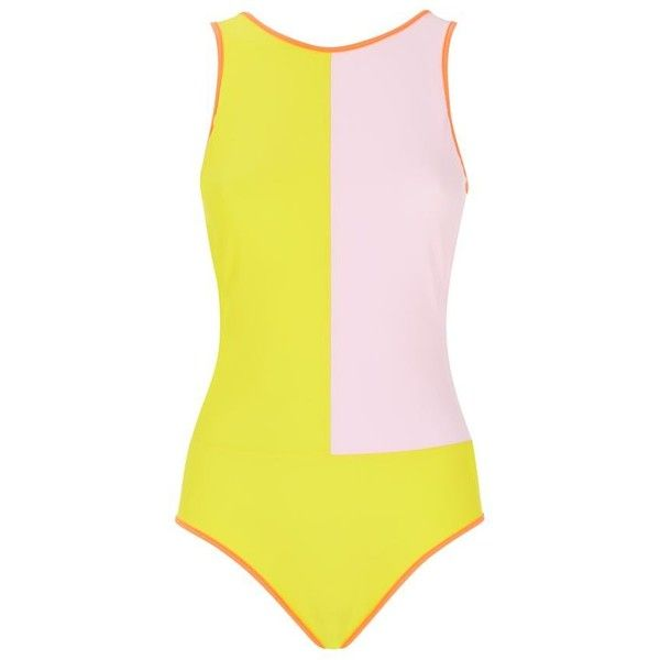 Roksanda Colour Block Backless Swimsuit (26,565 PHP) ❤ liked on Polyvore featuring swimwear, one-piece swimsuits, swim, vintage style swimsuits, colorblock swimsuit, one piece swimsuits, high neck bathing suit and retro swimsuit