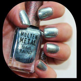 MichelaIsMyName: NOTD // BARRY M Molten Metal Blue Glacier