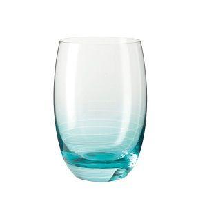 Leonardo Cheers Glass Tumbler Turquoise