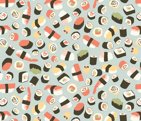 Yummy Sushi! fabric by einekleinedesignstudio on Spoonflower