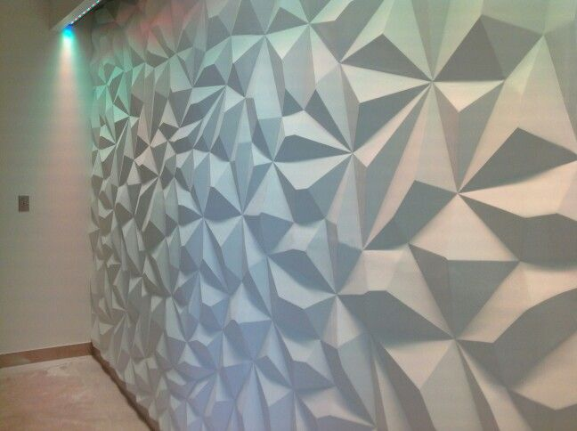 Pyramid Design 3d Wall Seamless Paintable Led Lighting