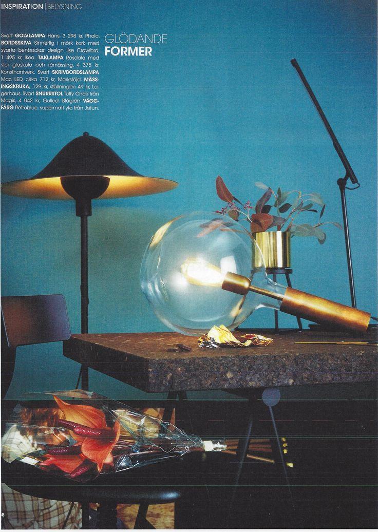 Lamp from Konsthantverk in the magazine Rum Design