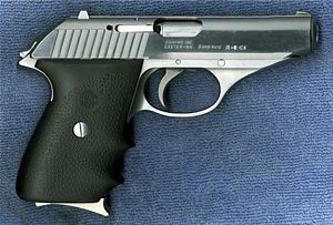 A SIG P230 SL Type Semi-automatic pistol Place of origin Germany, Switzerland Designed 1977 Manufacturer SIG Sauer, SIGARMS Produced 1977–1996 Cartridge .32 ACP, .380 ACP and 9×18mm Police Action Double Action/Single Action (DA/SA) With decocking lever Feed system 8-round magazine (.32 ACP) 7-round magazine (.380 ACP & 9mm)[2] Sights Fixed front and rear The SIG Sauer P230 is a small, semi-automatic handgun chambered in .32 ACP or .380 Auto. Beginning in 1996 it was replaced by the model…