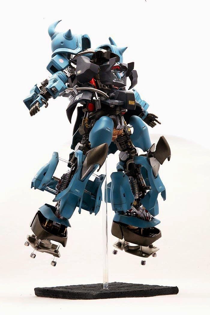 Custom Build: MG 1/100 MS-07B-3 Gouf Custom Open Hatch Presentation - Gundam Kits Collection News and Reviews
