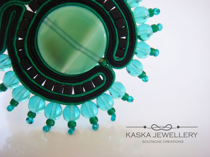 stunning soutache necklace