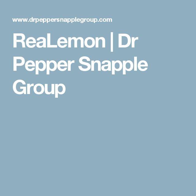ReaLemon   Dr Pepper Snapple Group