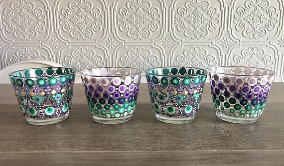 Set of Four Small Candle Holders