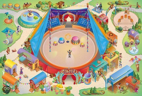 Speelkleed Connect - Een dagje in het circus / 100 cm x 150 cm