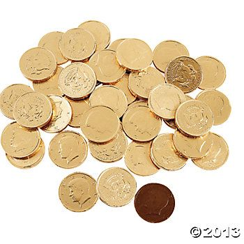 Chocolate Gold Coins for Temple Run Birthday Party