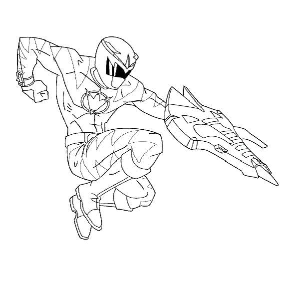 blue power ranger coloring pages - photo#23