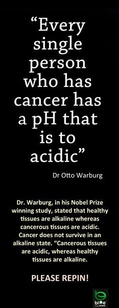 ☭❈✿░ Cancer and pH in the body