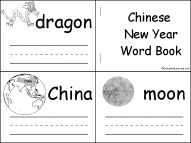 Chinese New Year Word Book, A Printable Book - EnchantedLearning.com