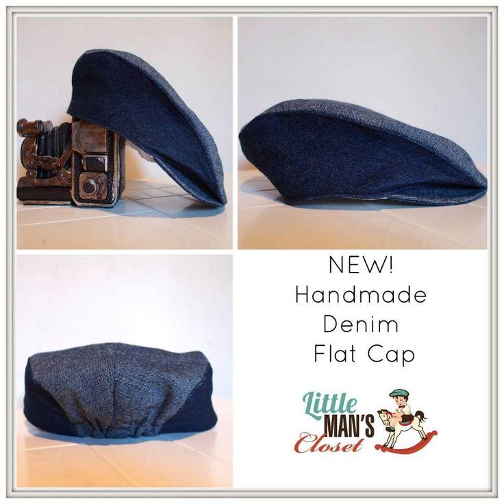 2 toned boys vintage denim flat cap.