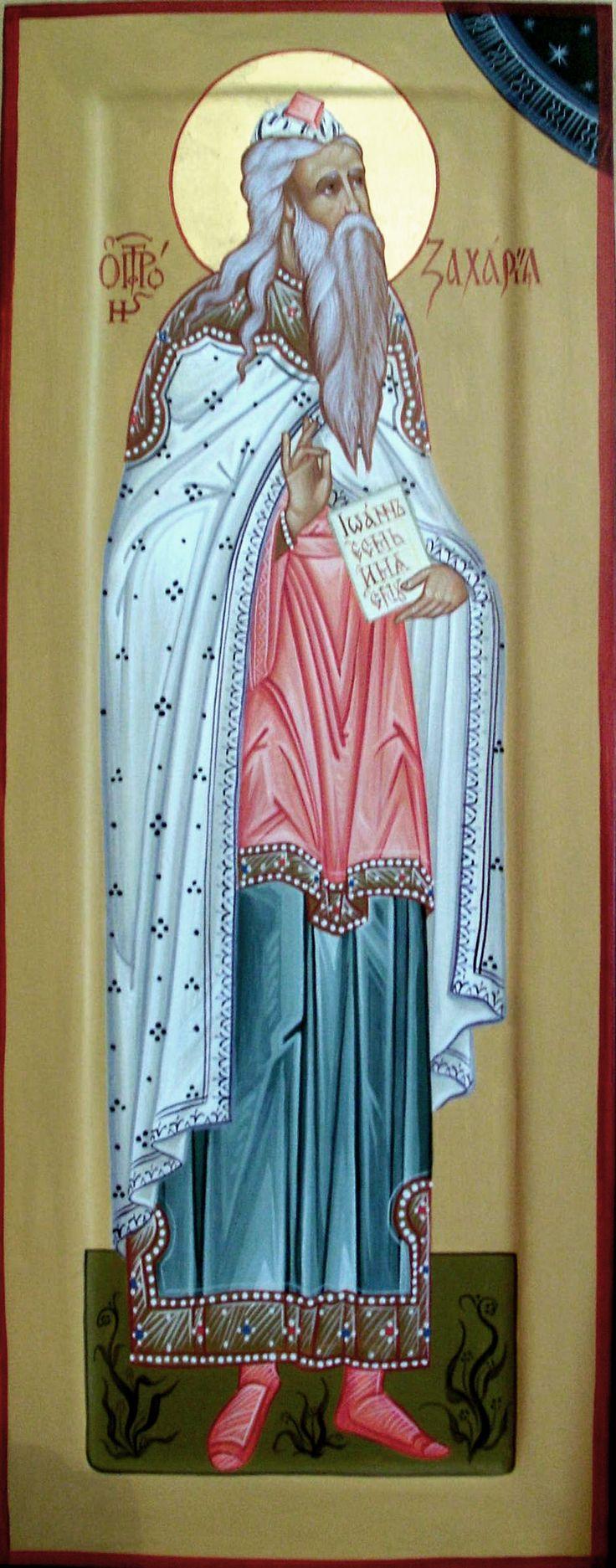 мерная икона Святой пророк Захария, липа, левкас, темпера, позолота