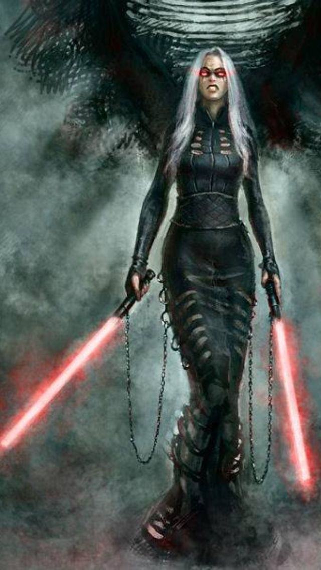 Sith, but kind of awesome -- I like strong females, just maybe not evil